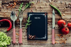menu del ristorante.