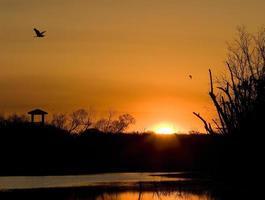 alba alla curva di Brazos foto