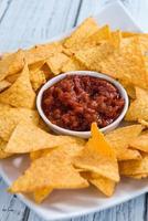 nachos con salsa salsa