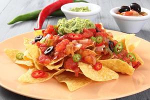 nachos con guacamole foto