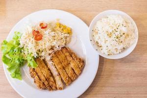 maiale fritto (tonkutsu) foto