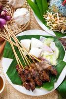 piatto malese satay foto