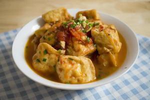 Tofu Sauced - cibo vegano foto