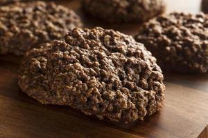 biscotti con fiocchi d'avena a doppio cioccolato foto