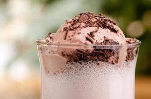 galleggiante al latte e cioccolato foto