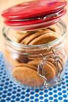 biscotti allo zenzero e crema in barattolo