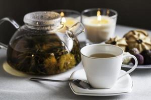 tazza di tè e teiera