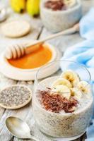 budino di semi di quinoa chia avena banana durante la notte