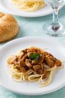 spagetti ai funghi champignon