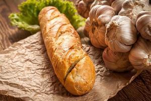 baguette all'aglio. foto