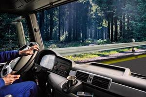 cabina di guida del camion foto
