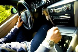 autista di auto sportiva foto