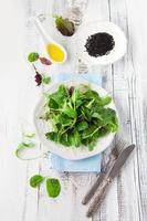 insalata verde fresca foto