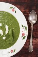zuppa di spinaci. foto