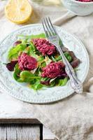 insalata di barbabietole con rucola