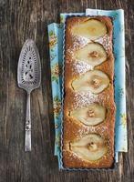 crostata di pere e mandorle