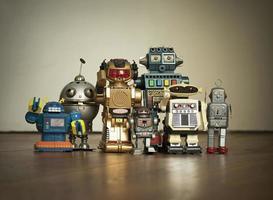 foto di famiglia di robot