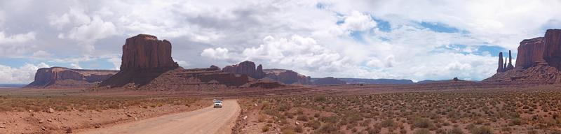 panorama della valle del monumento foto