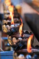 lampada ad olio disposta in fantastici schemi foto