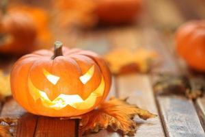 Halloween jack o 'sfondo lanterna foto