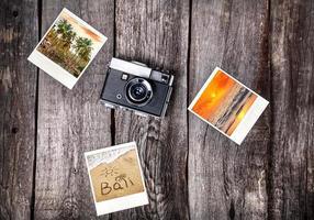 macchina fotografica e foto da bali