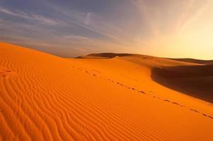 paesaggio di deserti e dune di sabbia foto