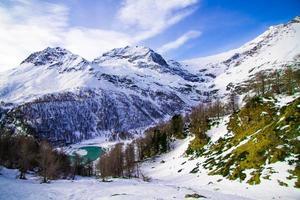 lo splendido paesaggio delle alpi