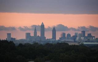 tramonto a Cleveland foto