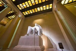memoriale di Lincoln di notte foto