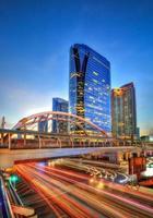 skyline della città di bangkok foto