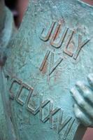 colpo del dettaglio della statua della libertà foto