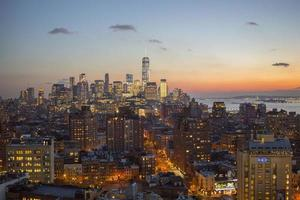 skyline di manhattan, new york city foto