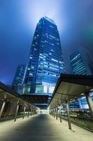 quartiere degli affari di Hong Kong di notte foto