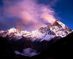 campo base annapurna, nepal foto