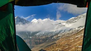 vista dall'interno della tenda