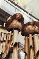 campanelli eolici di bambù