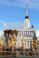 fontana dei popoli dell'amicizia, mosca, russia foto