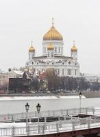 cristo cattedrale del salvatore, mosca, russia, vista invernale foto