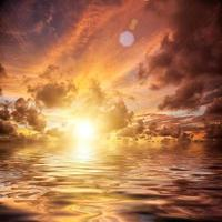 sfondo del cielo al tramonto foto