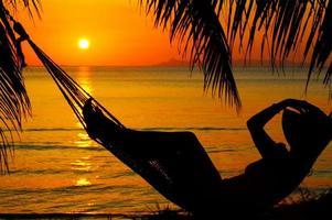 tramonto e hummock foto