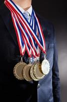 medaglie d'oro da portare dell'uomo d'affari