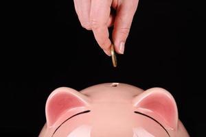 concetto di risparmio di denaro foto