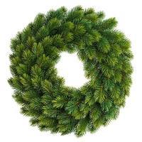 decorazione natalizia corona sempreverde non decorata foto