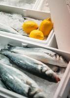 pesce pronto per essere venduto foto