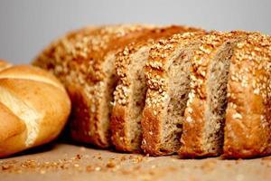 pane di farina integrale foto