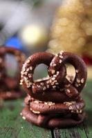 biscotti pretzel al cioccolato