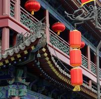 tempio buddista tradizionale, xian (sian, xi'an), provincia dello shaanxi, porcellana