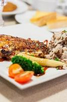 bistecca di pollo piccante foto