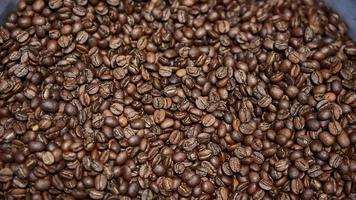 chicchi di caffè appena tostati