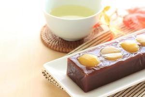 cibo giapponese, castagna yokan foto